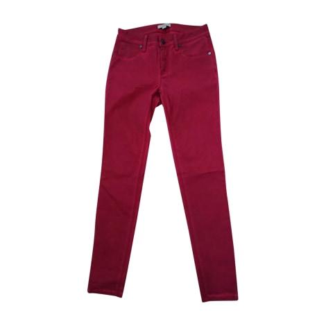 Skinny Jeans BURBERRY Red, burgundy