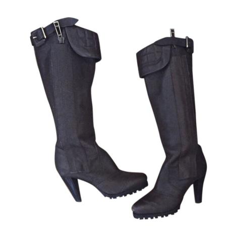 High Heel Boots BURBERRY Brown