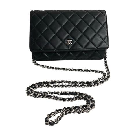 Leather Shoulder Bag CHANEL Wallet-On-Chain Black
