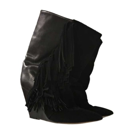 Wedge Ankle Boots ISABEL MARANT Black