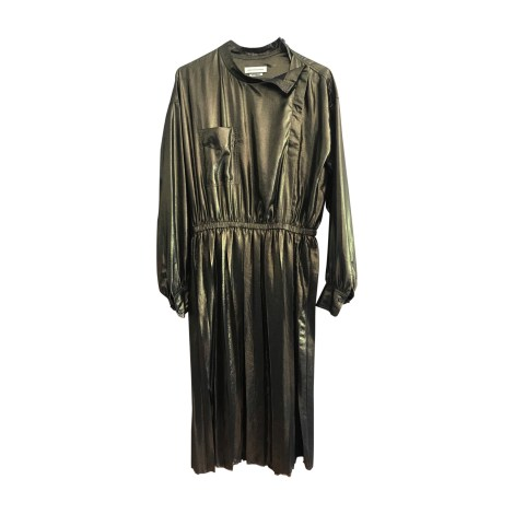 Midi Dress ISABEL MARANT Golden, bronze, copper