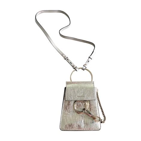 Leather Handbag CHLOÉ Faye Golden, bronze, copper