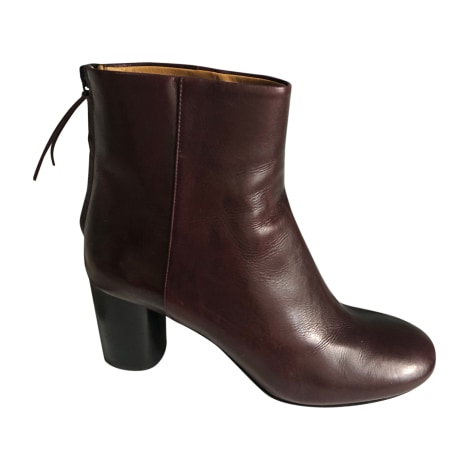 High Heel Ankle Boots ISABEL MARANT Red, burgundy