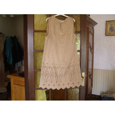 Robe courte JACQUELINE RIU Beige, camel