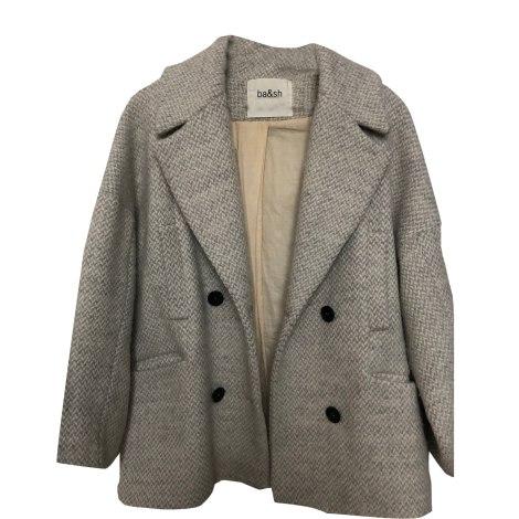 Manteau BA&SH beige gris clair