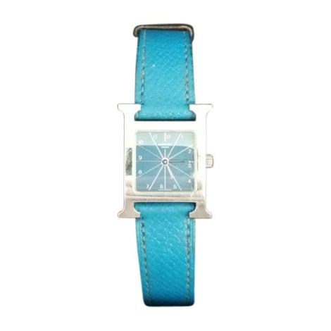 Montre au poignet HERMÈS Bleu, bleu marine, bleu turquoise
