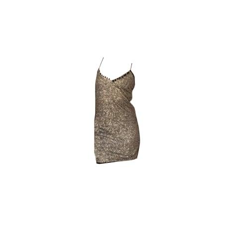 Robe courte ZADIG & VOLTAIRE Doré, bronze, cuivre