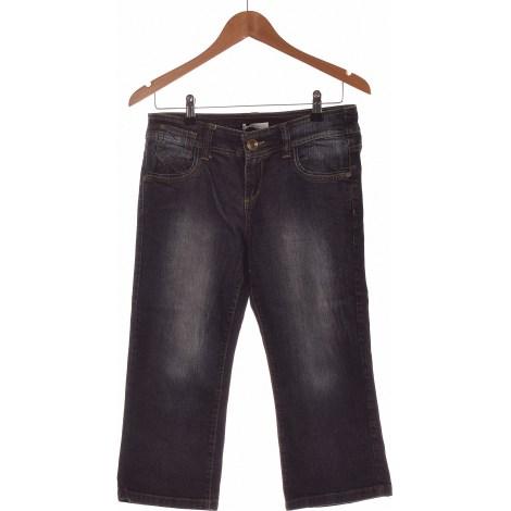 Jeans droit PROMOD Bleu, bleu marine, bleu turquoise