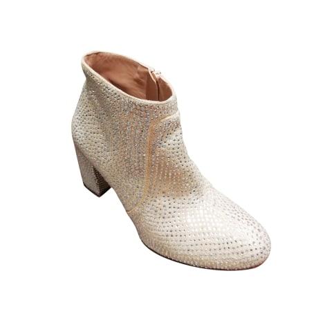 Santiags, bottines, low boots cowboy MANOUSH Beige, camel
