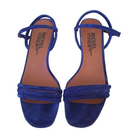 Sandales à talons MICHEL VIVIEN Bleu, bleu marine, bleu turquoise