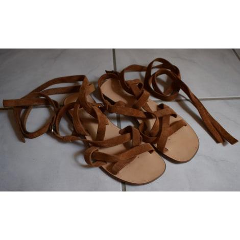 Sandales plates  JONAK Beige, camel