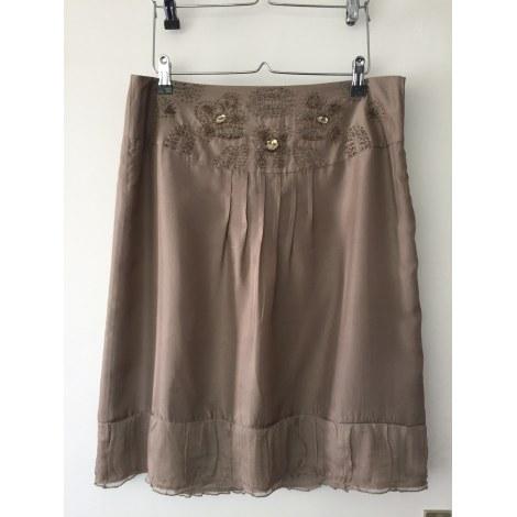 Midi Skirt PROMOD Beige, camel
