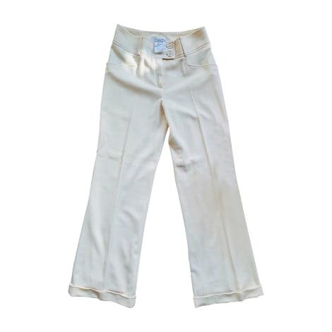 Pantalon évasé DIOR Blanc, blanc cassé, écru