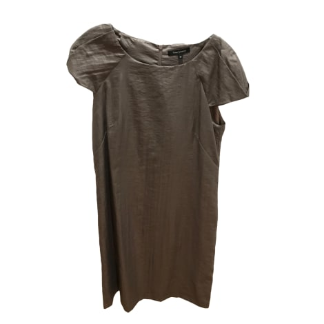 Robe courte TARA JARMON Doré, bronze, cuivre
