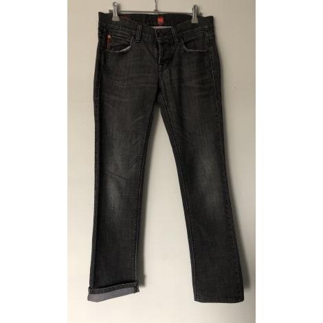 Jeans droit HUGO BOSS Gris, anthracite