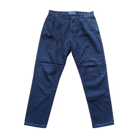 Pantalon droit ÉTUDES STUDIO Bleu, bleu marine, bleu turquoise