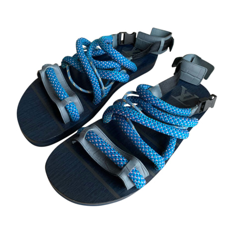Sandales LOUIS VUITTON Bleu, bleu marine, bleu turquoise