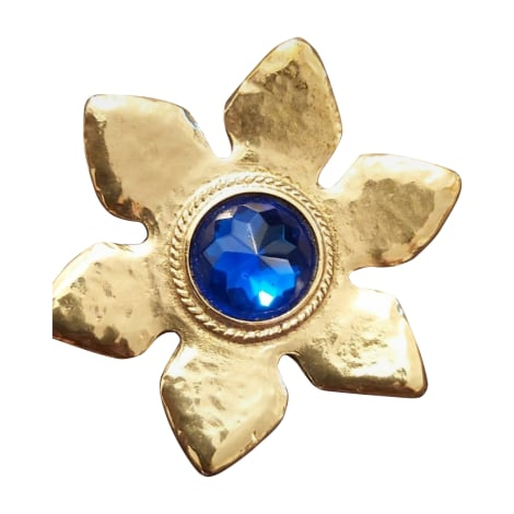 Spilla YVES SAINT LAURENT Dorato, bronzo, rame