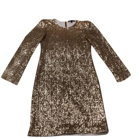 Robe courte MAJE Doré, bronze, cuivre