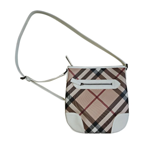 Leather Shoulder Bag BURBERRY White, off-white, ecru