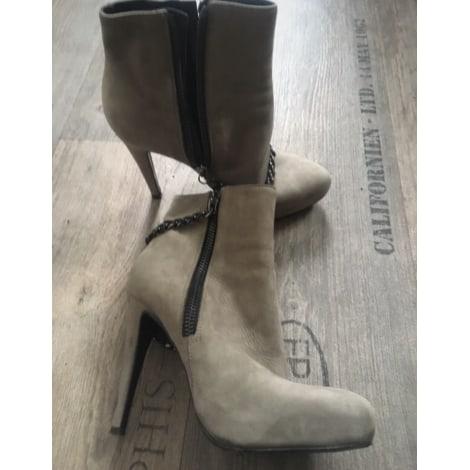 Bottines & low boots à talons ALL SAINTS Gris, anthracite