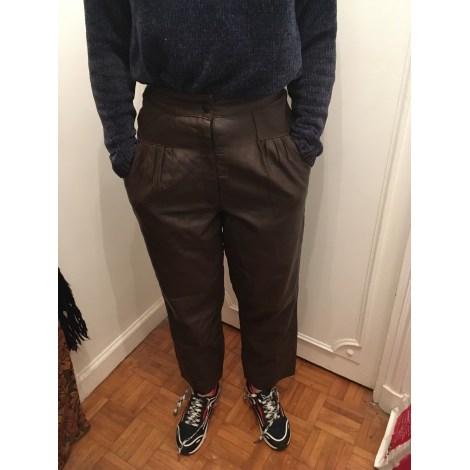 Pantalon large VINTAGE Marron