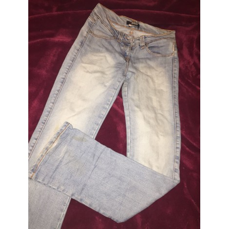 Jeans droit MORGAN Bleu ciel