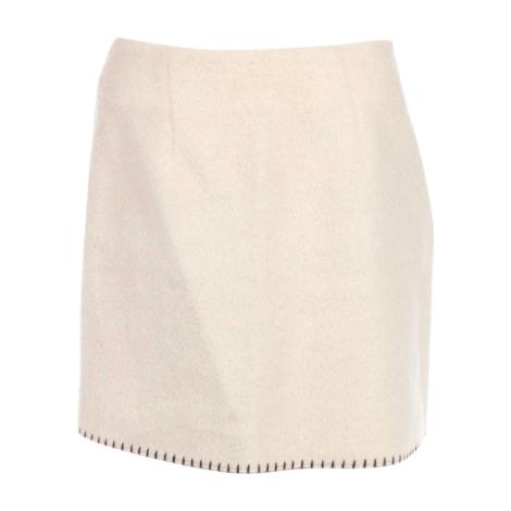 Jupe courte MOSCHINO Blanc, blanc cassé, écru