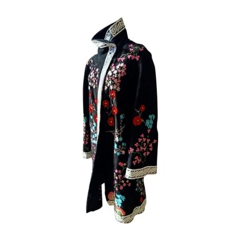 Manteau en cuir CHRISTIAN LACROIX Multicouleur