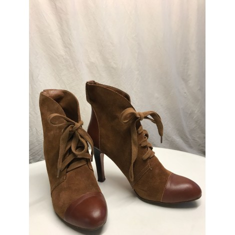 Bottines & low boots à talons ZARA Marron