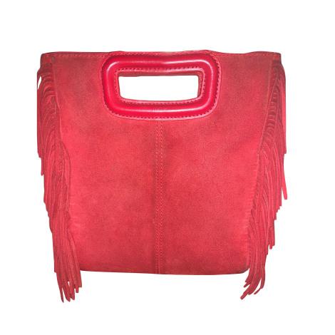 Non-Leather Shoulder Bag MAJE Red, burgundy