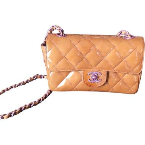 Leather Shoulder Bag CHANEL Timeless Beige, camel