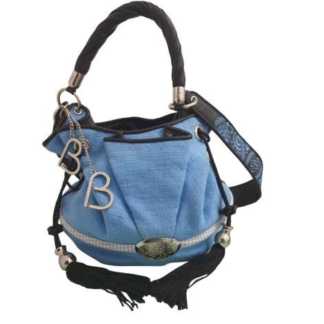 Sac en bandoulière en cuir LANCEL Brigitte Bardot Bleu, bleu marine, bleu turquoise
