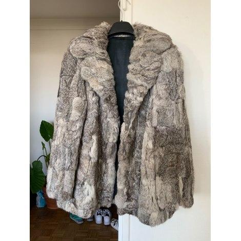 Manteau en fourrure VINTAGE Gris, anthracite