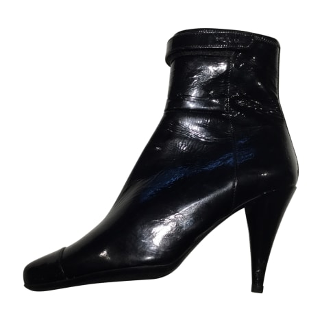 High Heel Ankle Boots PRADA Black