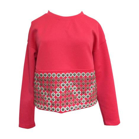 Top, t-shirt VERSACE Rosa, fucsia, rosa antico