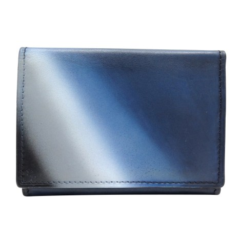 Porte-cartes BERLUTI Bleu, bleu marine, bleu turquoise