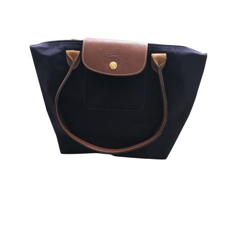 Non-Leather Handbag LONGCHAMP Pliage Purple, mauve, lavender