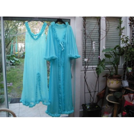 Robe de chambre VINTAGE Bleu, bleu marine, bleu turquoise