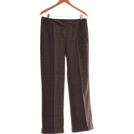 Pantalon droit CAMAIEU Gris, anthracite
