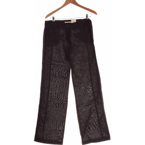 Pantalon évasé CAMAIEU Noir