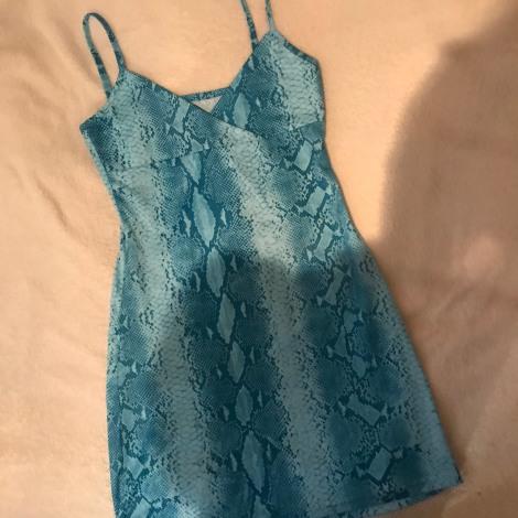 Robe courte VINTAGE Bleu, bleu marine, bleu turquoise