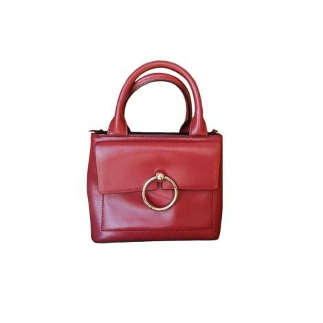 Leather Handbag CLAUDIE PIERLOT Red, burgundy