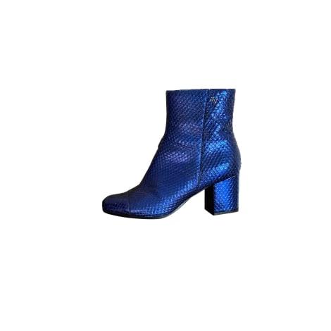 Bottines & low boots à talons ZADIG & VOLTAIRE Bleu, bleu marine, bleu turquoise