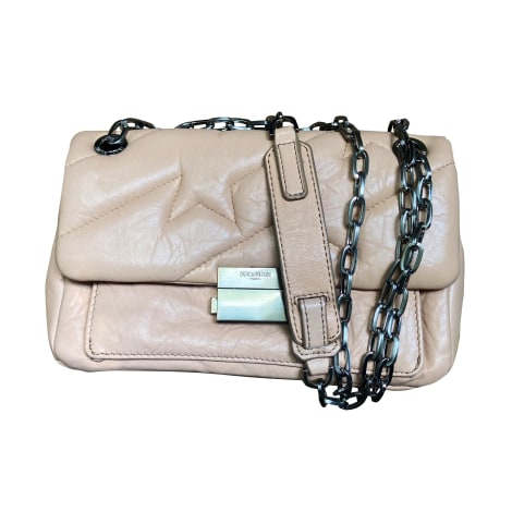 Leather Shoulder Bag ZADIG & VOLTAIRE Rose pâle, beige