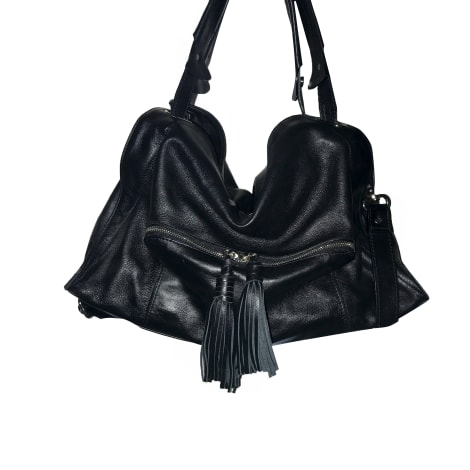 Leather Handbag SANDRO Black