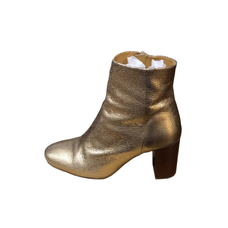 High Heel Ankle Boots SÉZANE Golden, bronze, copper