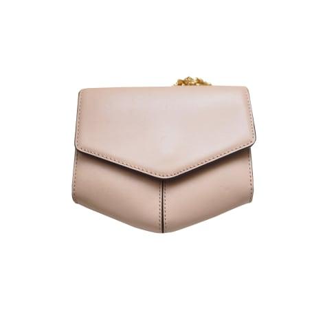 Leather Shoulder Bag SANDRO Beige, camel