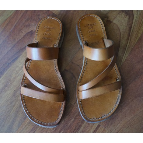 L Angolo Del Cuoio.Flat Sandals L Angolo Del Cuoio Firenze 35 Brown Very Good Sold By
