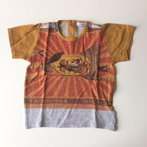 Top, tee shirt DOLCE & GABBANA Jaune